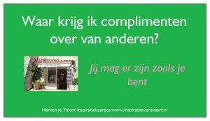Inspiratie kaart Herken je Talent Compliment